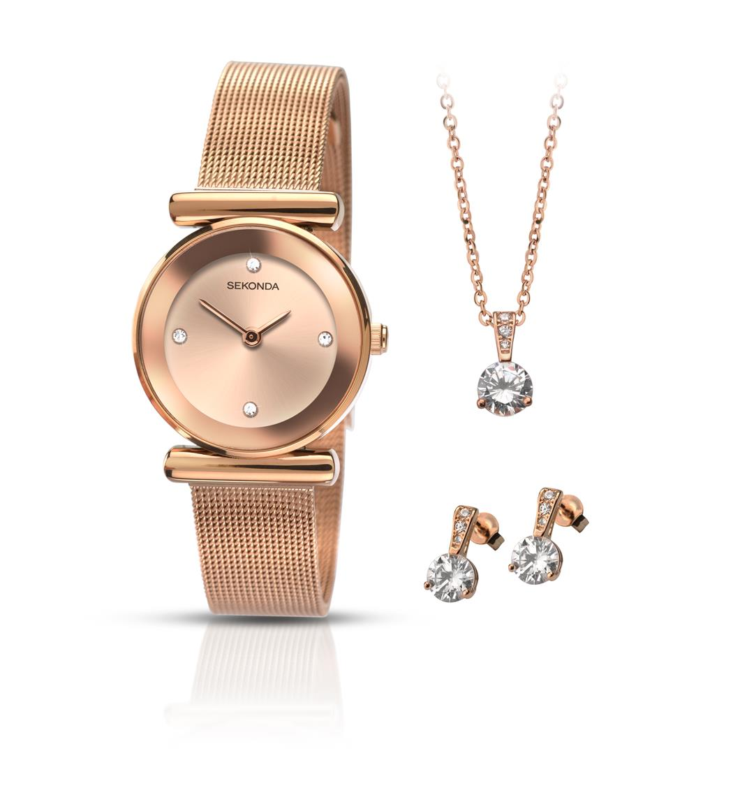 f0df7274347 SEKONDA LADIES ROSE GOLD PLATED GIFT SET - Temptations - Malaysia ...