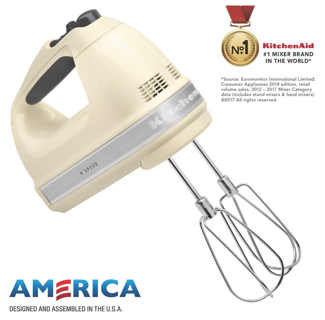 Kitchenaid 9 Speed Hand Mixer Almond Cream Temptations